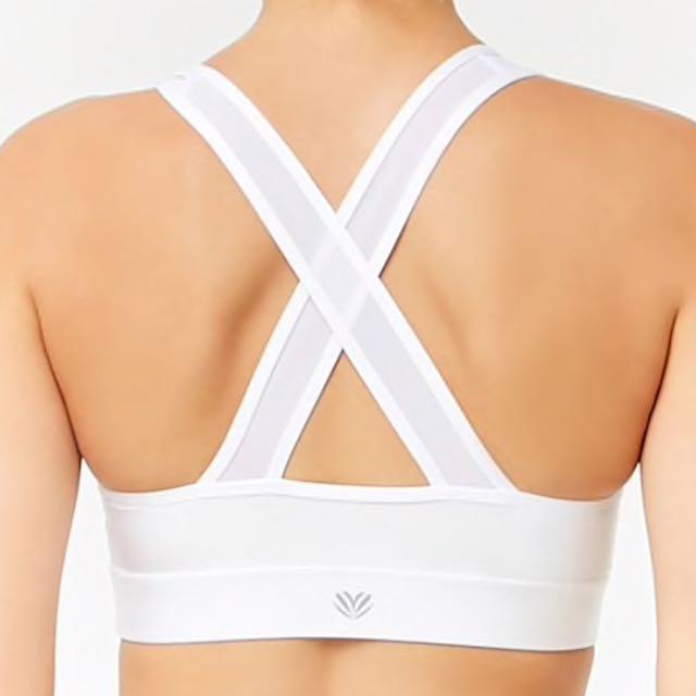 Forever 21 Medium Impact mesh strap sports bra