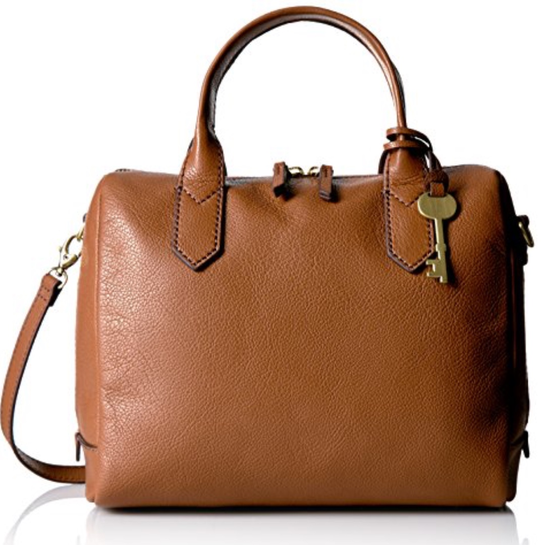 ca299f7ed2 Fossil Fiona Satchel in Brown.