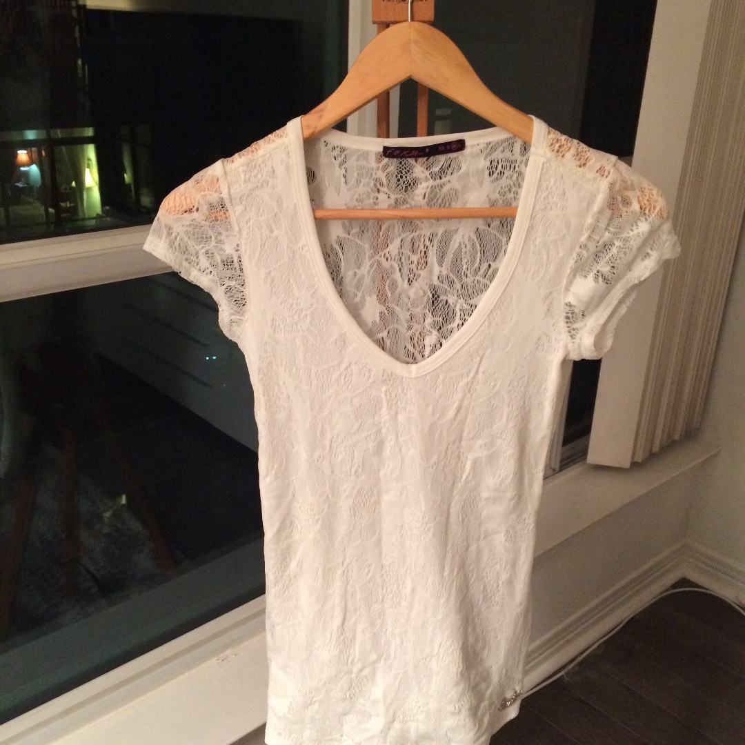 Foxy White Lace Top
