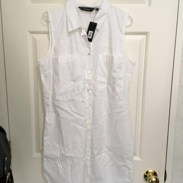 Glassons white collar dress