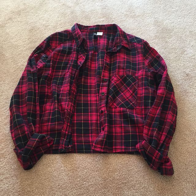 H&M Cropped Flannel
