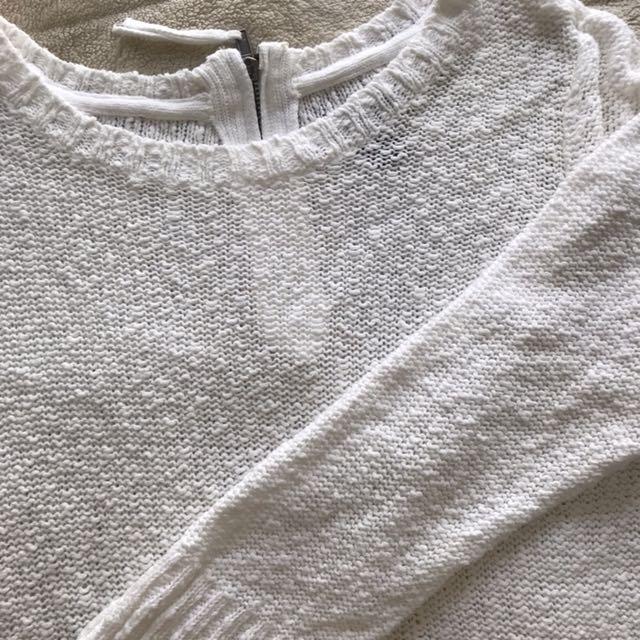 H&M white sweater jumper