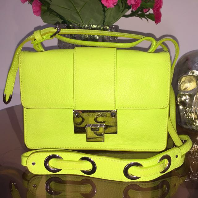 Jimmy Choo Neon Green Sling Bag x Gucci x LV x Chanel