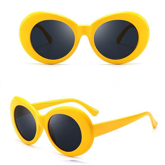 Kacamata Kurt cobain vintage sunglasses yellow