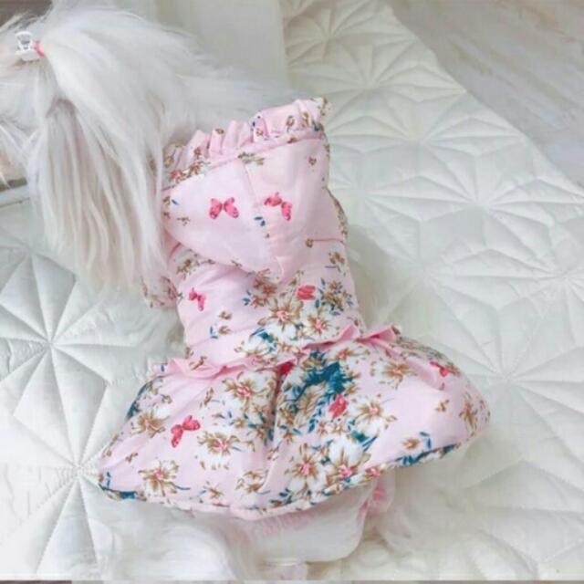 「L號」寵物鋪棉外套 公主服裝刷毛鋪棉外套 貴賓狗 博美 貓咪