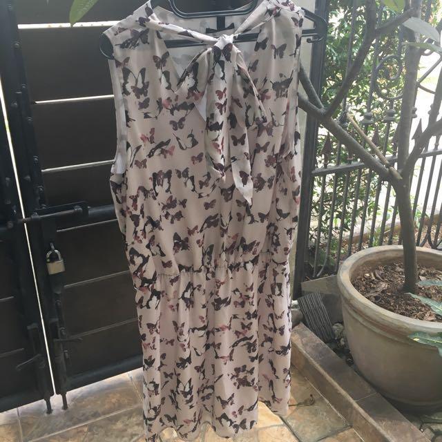 MANGO Dress plus size beige MNG