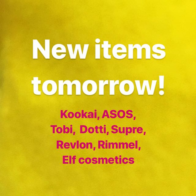 More item listings tomorrow!