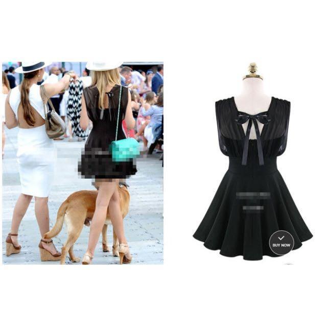 「現貨白M黑S.XL.5XL」中大尺碼 性感 露背 美背小禮服 洋裝 4651