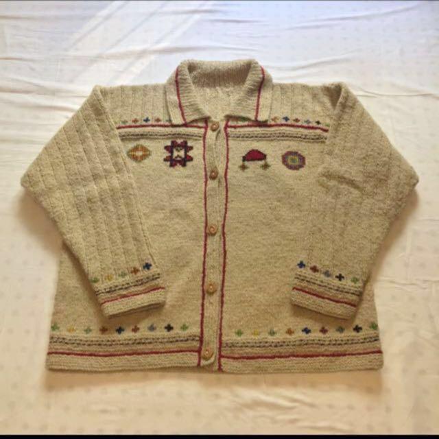 Navajo 印地安外套 納瓦霍 毛衣 拷津 開襟 民族風 圖騰 雪花 羊毛外套 Chimayo 粗針 手工編織