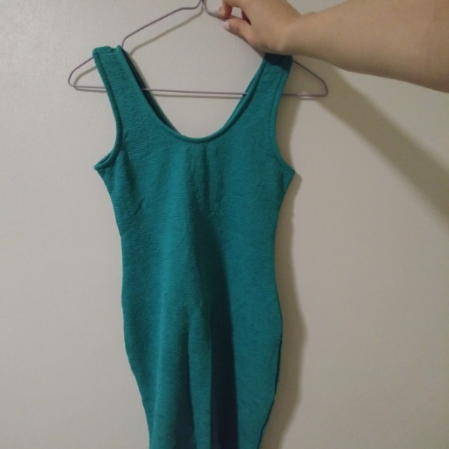 NEW Green bodycon mini dress