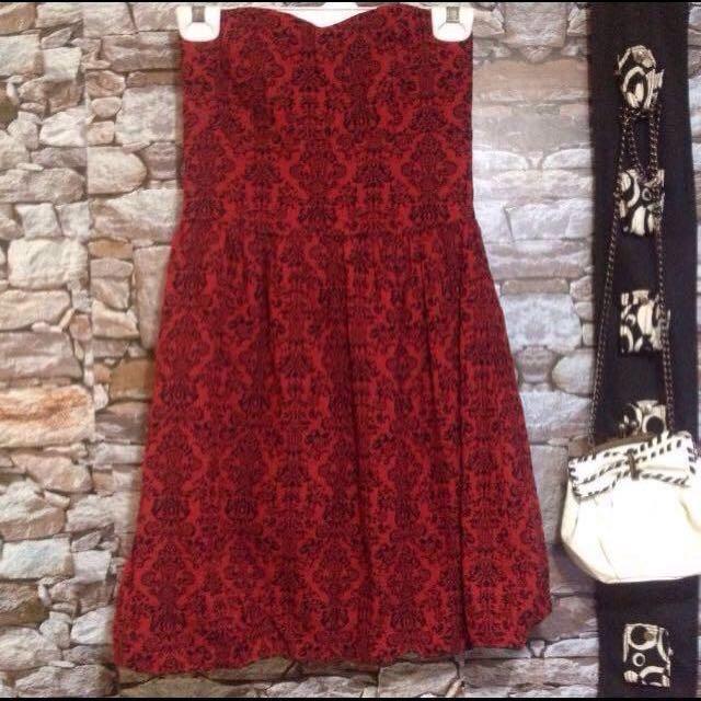 Original F21 Bubble Hem Red Tube Dress