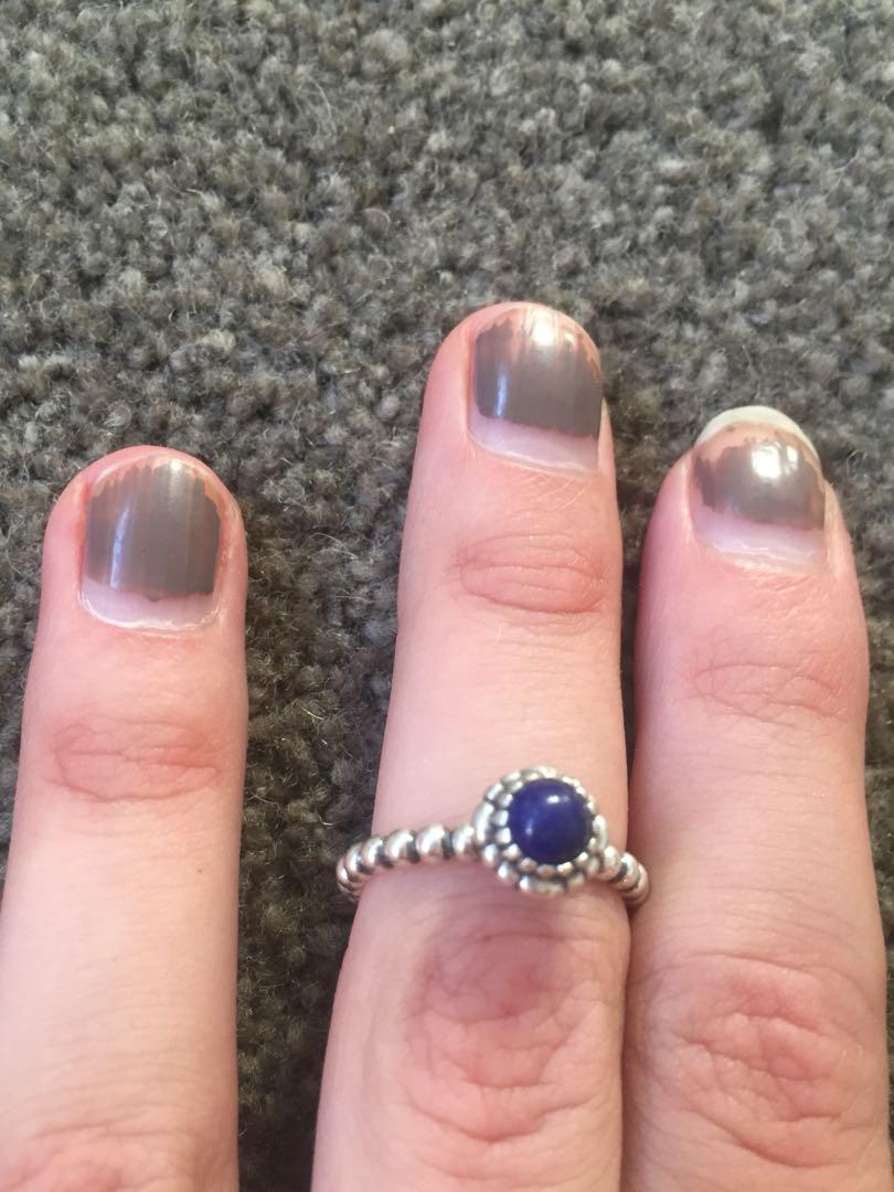 Pandora navy blue September ring