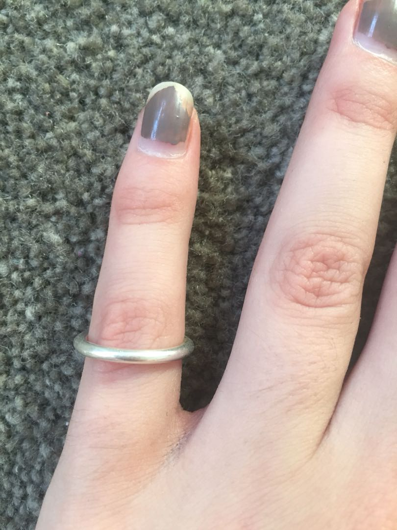 Pandora plain silver ring