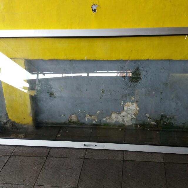 Pintu kaca alumunium uk 210x80cm