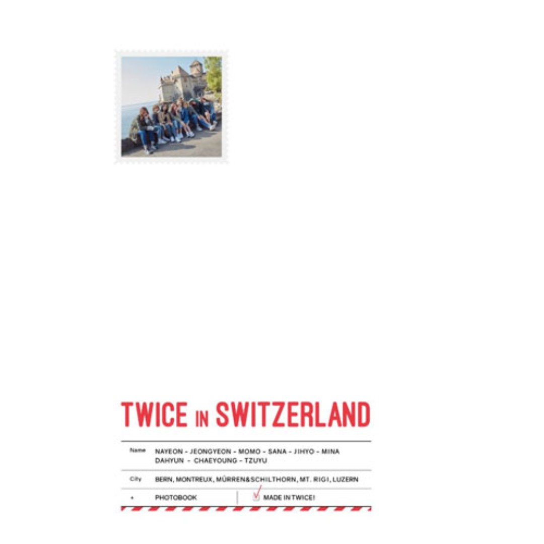 [PREORDER] TWICE TV5 - TWICE in Switzerland Photobook
