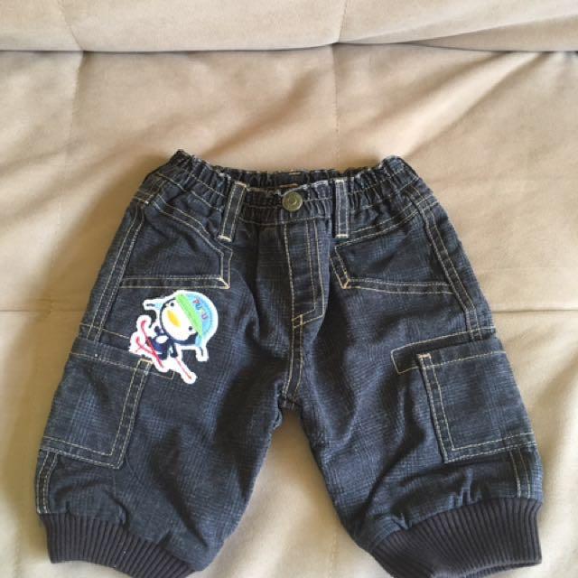 全新PUKU牛仔褲(3-6m)