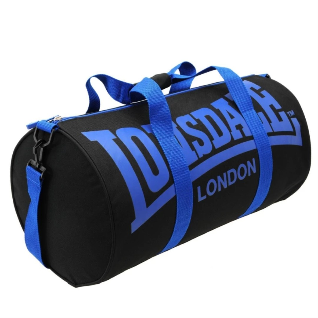 Readystock authentic Lonsdale gym slingbag duffel barrel bag blue black 82942b3863a88
