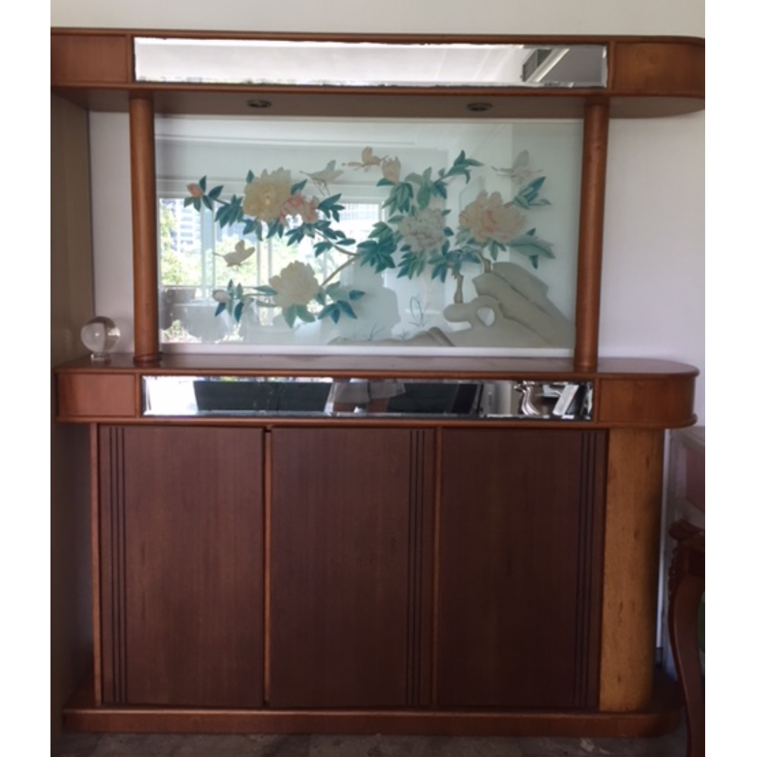Room divider with storage furniture home decor on carousell