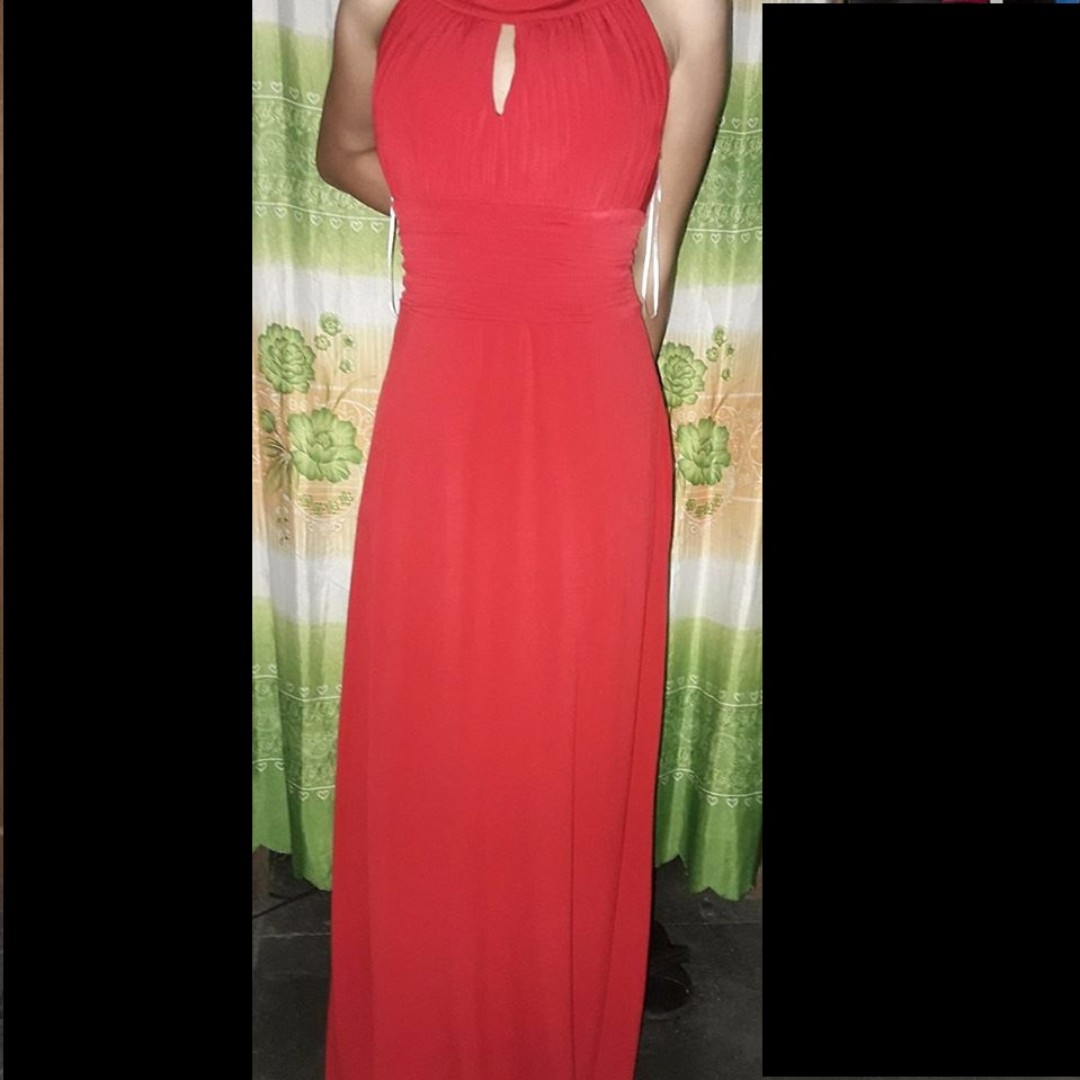 Sanoria Red Long Gown