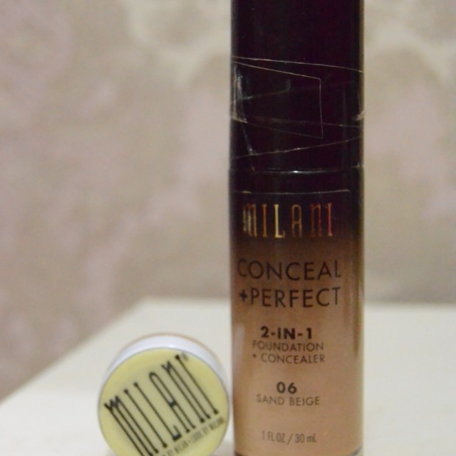 Share in jar 5gr Milani 2 in 1 perfect conceal foundation