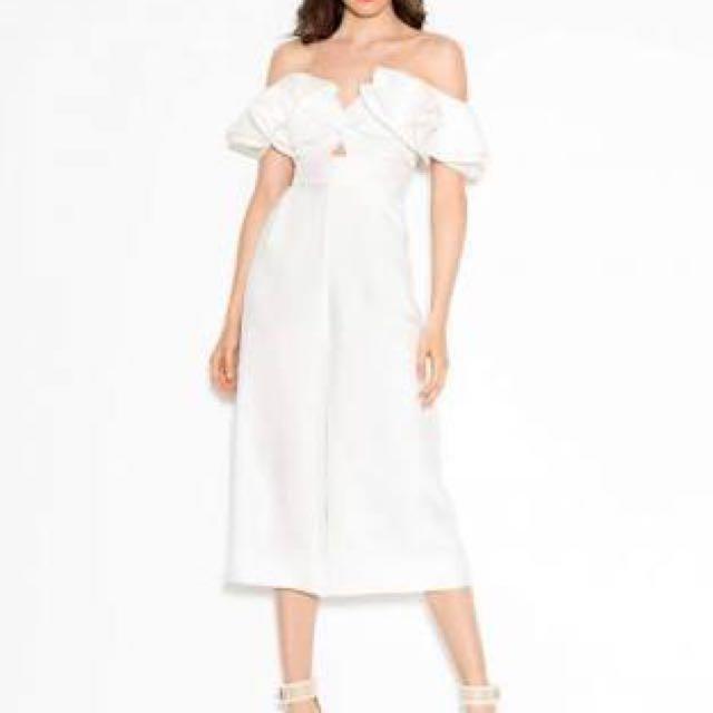 "Sheike ""Grace"" White Jumpsuit size 6"