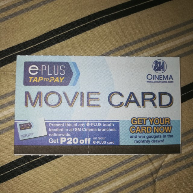 1-piece SM Movie Card (P200 worth)
