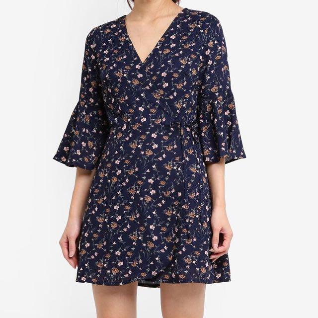 Something Borrowed Wrap Dress