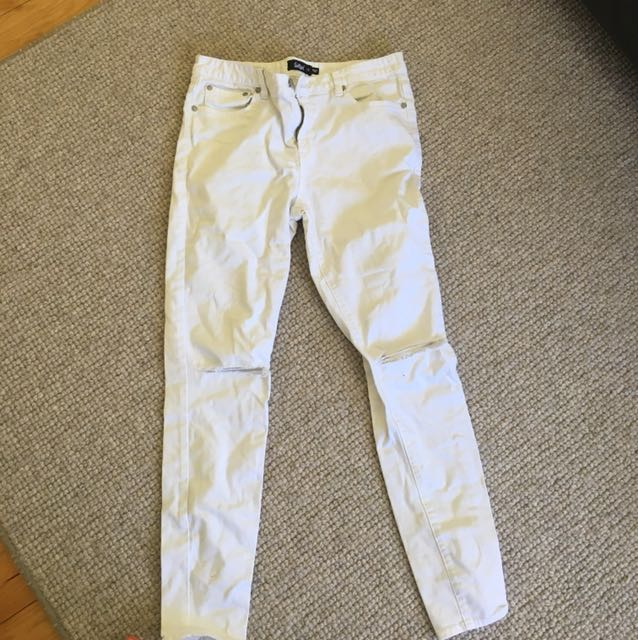 Sportsgirl white denim jeans