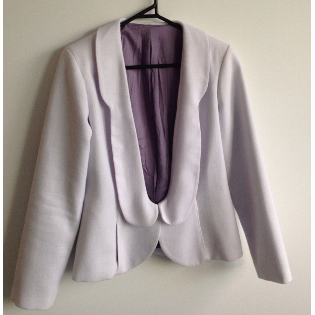 STUNNING White ONE OF A KIND Power Suit Blazer Jacket SIZE 10