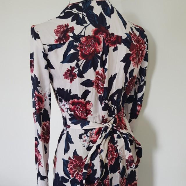 Suprè Floral Wrap Dress