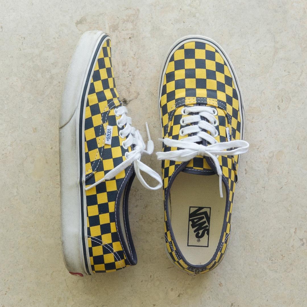 cfb12c1c8628c6 Vans Authentic US 9 Golden Coast Checkerboard Dress Blues Yellow ...