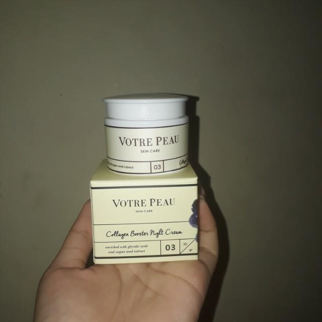 Votre peau collagen booster night cream