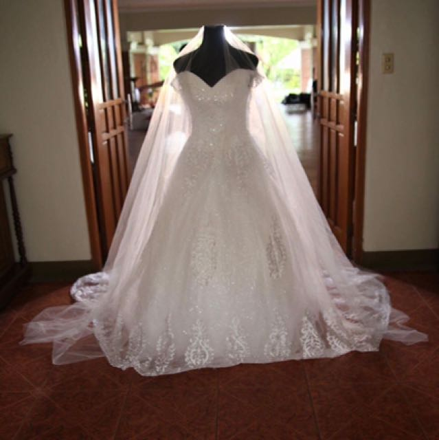 Wedding Gown For Rent, Preloved Women\'s Fashion, Clothes on Carousell