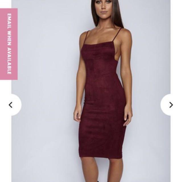 Wine Midi Dress