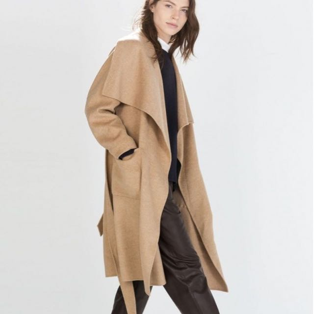 8b890715 Zara Handmade Wool Coat, Women's Fashion, Clothes, Outerwear on Carousell