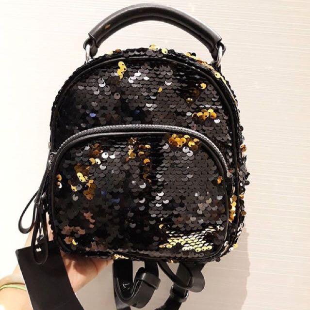 Zara Sequins Mini Backpack