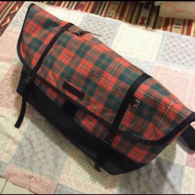 Zucca 日本購入 郵差包 後背包 側背包 單速車 鋼管車 Fixed Gear 格紋包 格子 古著 龐克