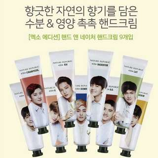 EXO Nature Republic Hand Cream Set