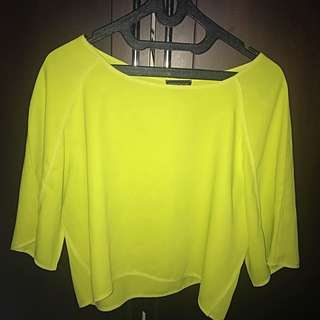 Topshop Neon Top - Very Good Condition