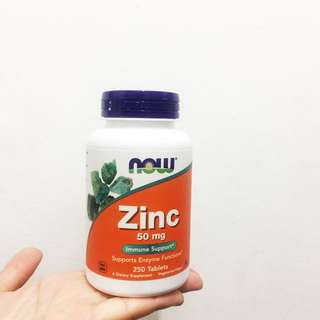 Ready stock Zinc 50mg 250 tablets now food