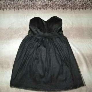 Elegant Black Tube Cocktail Dress