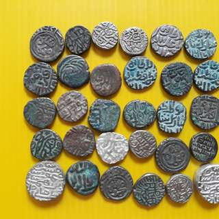 30 COINS LOT - bl01 -  Beautiful vintage Billion Coins Medieval Islamic Persian ( 600 - 1000 Years old ) DELHI SULTAN  india