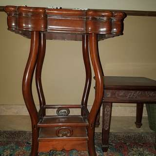 Antique Shanghai Style Blackwood Use Table