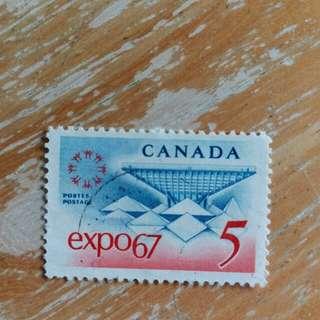 加拿大郵票1967年世界博覽會已銷郵票