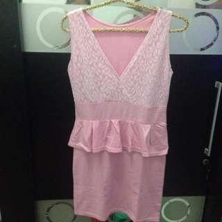 Peplum Pinky Dress