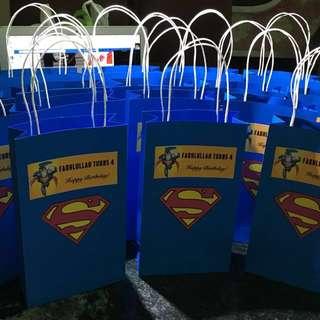 Customised Superman Paper Bag or Goodie Bag