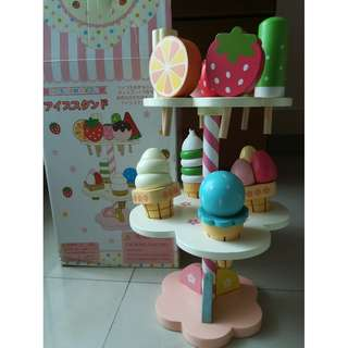 Wooden pretend play ice cream popsicles Mother Garden