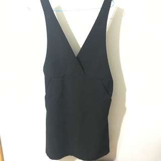 70% new h&m black dress 2017 黑裙 秋冬 易襯 collect point