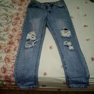something borrowed ripped jeans