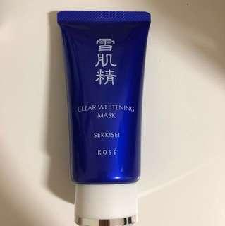 Kose sekkisei clear whitening mask